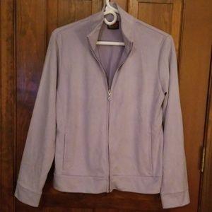Zip faux suede jacket.